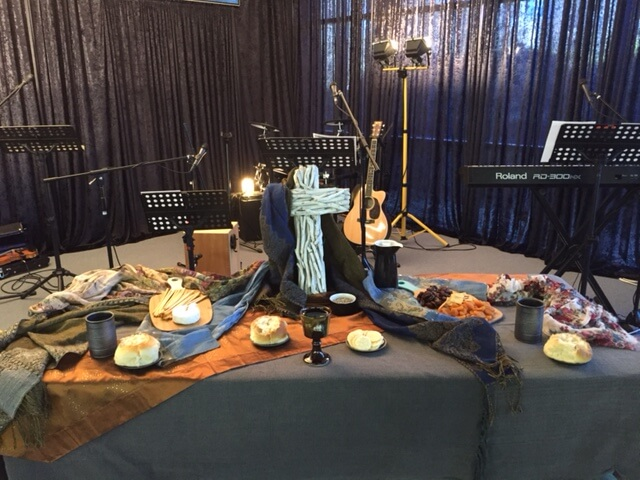 Image of communion table at Gungahlin