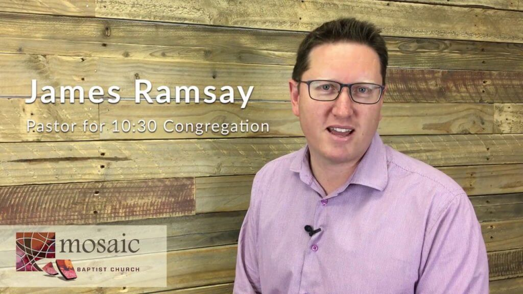 James Ramsay of Mosaic Baptist Church sharing his vision for 10.30am Congregation