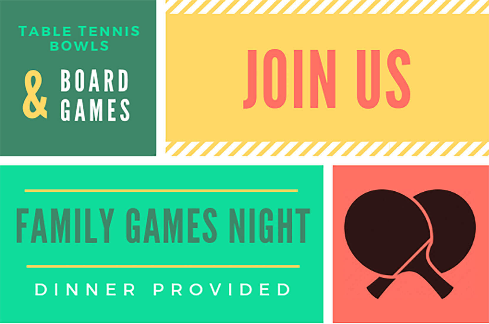 Image of Family Games night flyer