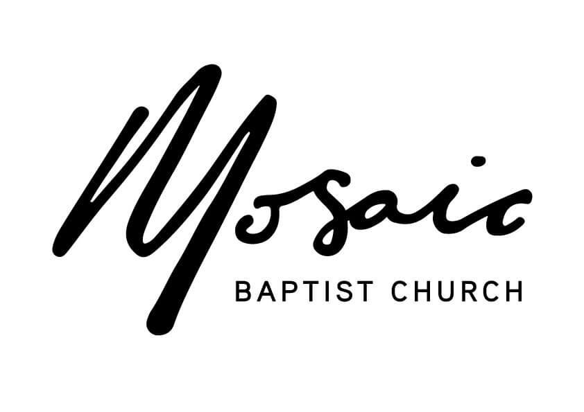 Image of the Mosaic logo black on white