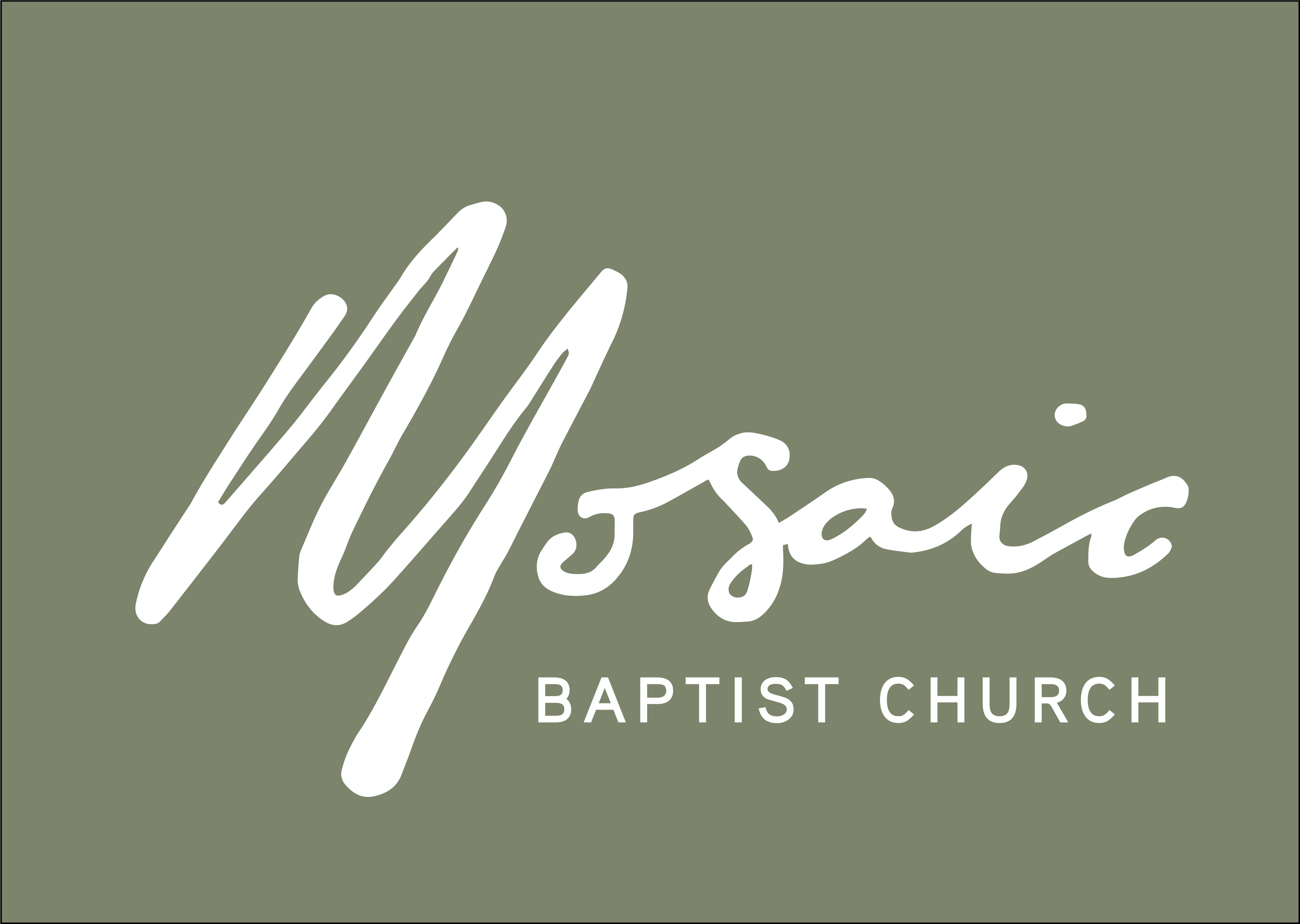 image of the dark green Mosaic logo