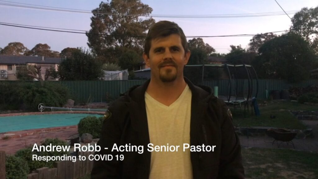 Image of Pastor Andrew Robb COVID 19 Update for Mosaic Baptist Church