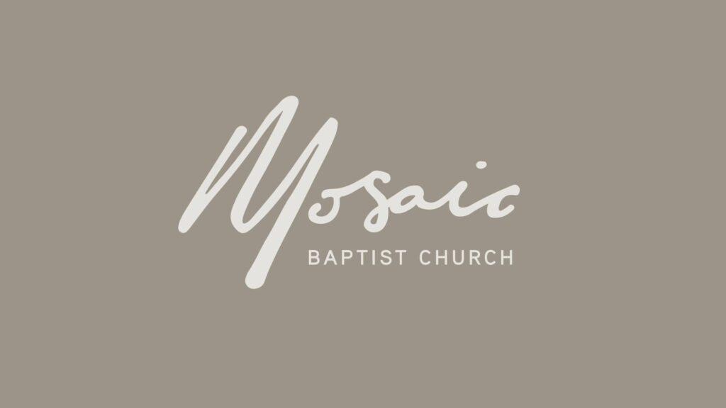 01 November 2020 Mosaic Baptist Church Video Sermon