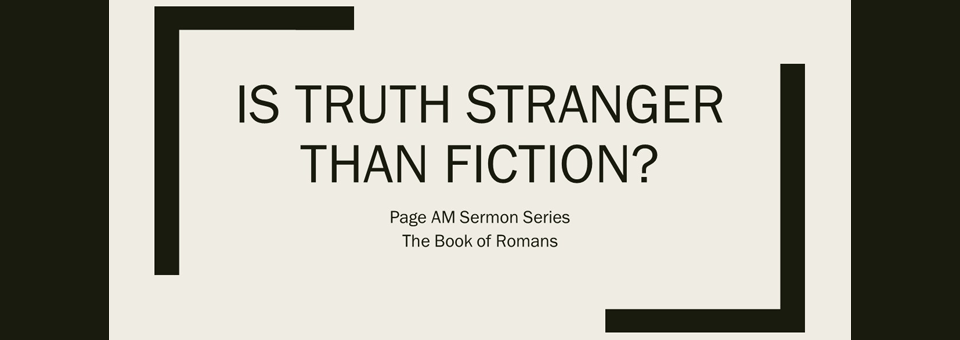 Slide for Page AM sermon series on Romans