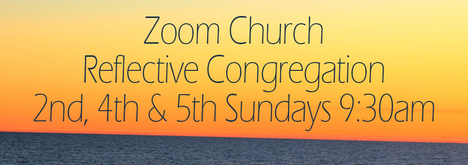Image of the slide for the Reflective Zoom church